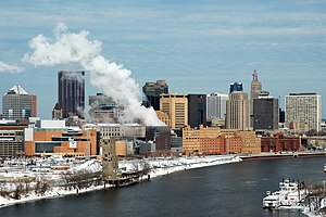 Downtown St. Paul from the southwest in the wi...