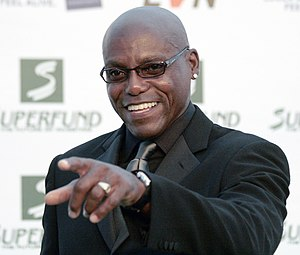 "Carl Lewis at the ""green carpet"" for..."