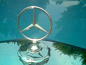 The iconic symbol of Mercedes-Benz