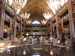 English: Lobby of Disney's Animal Kingdom Lodg...