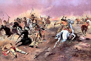 Painting For Supremacy by Charles Marion Russell