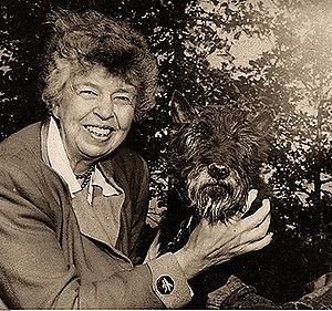 Eleanor Roosevelt with Fala