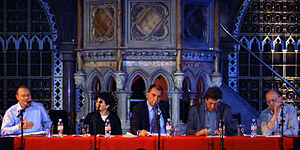 The panel at the public launch of the Euston M...