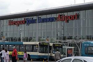 The terminal building at John Lennon Airport L...