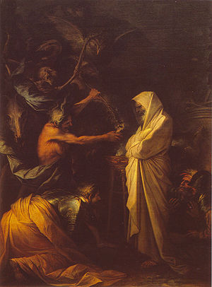 Apparition of the spirit of Samuel to Saul, by...