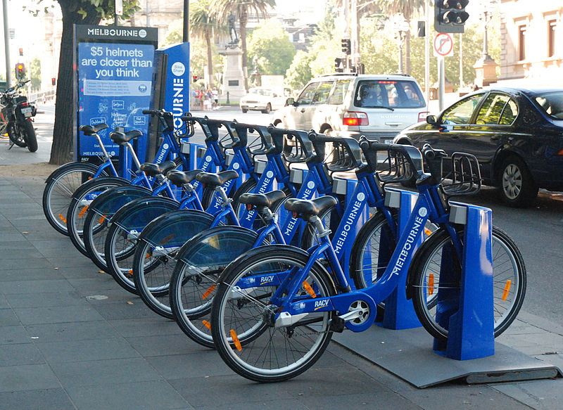 File:Melbourne City Bikes.JPG