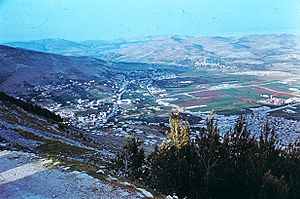 English: Michmethath__which_is_before_Shechem