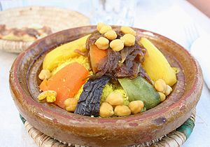 Moroccan cuisine-Couscous with vegetables