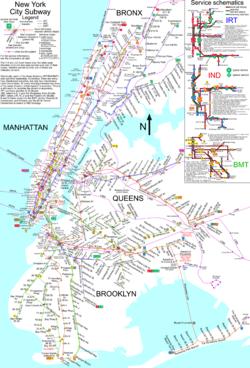 El metro de Nueva York tiene la mayor red de v�as del mundo.