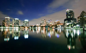 English: Orlando Skyline at night