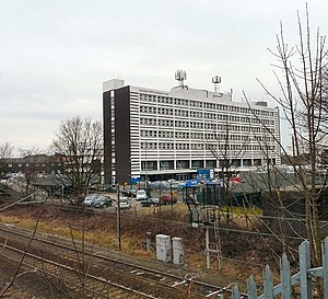 English: Stepping Hill Hospital Viewed from th...
