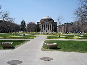 The Syracuse University Quad. Taken by me on A...