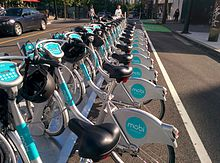 Vancouver Mobi bike share near BC Place stadium in Downtown Vancouver.jpg