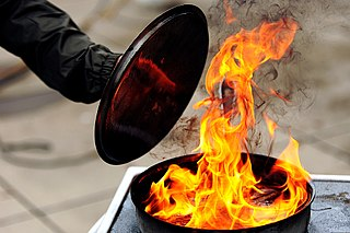 Grease Fire in frying pan