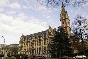 Clock tower on the Université Libre de Bruxell...