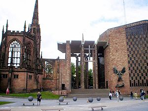 Photo showing the old and the new cathedral of...