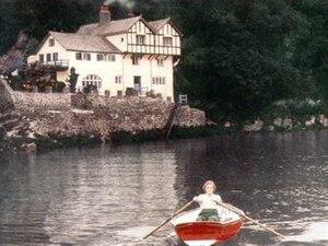 Daphne du Maurier near her house at Ferryside,...
