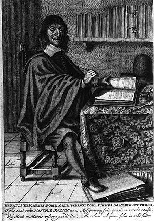 René Descartes at work.