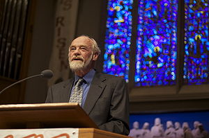 English: Eugene Peterson lecture at University...