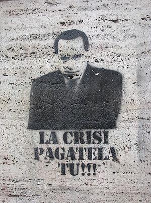English: Political gaffiti with Silvio Berlusc...