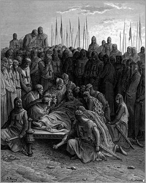 English: gustave_dore_crusades_death_of_baldwin_I
