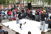 Break dance en la calle.