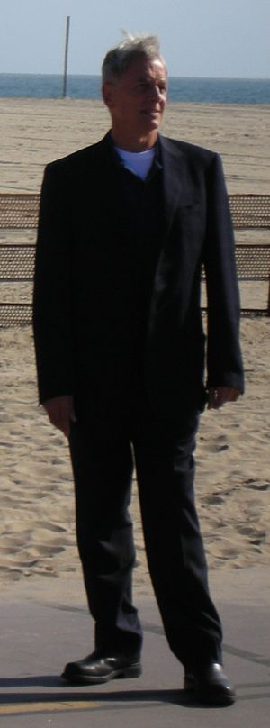 Actor Mark Harmon during NCIS Filming