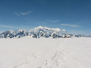Mount Logan, Canada, from NE, seen from Kluane...