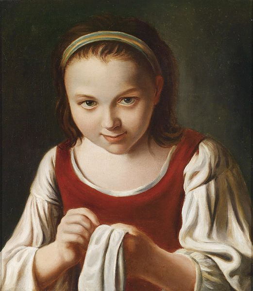 File:Pietro Antonio Rotari (workshop) Sewing girl.jpg