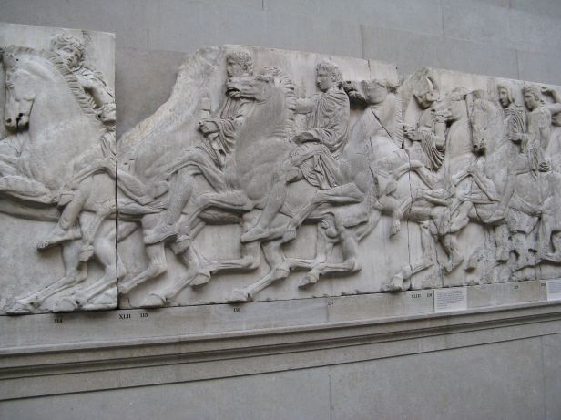 Riders in the procession-North frieze-Parthenon-British Museum