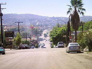 Vista del Centro de Tecate BC
