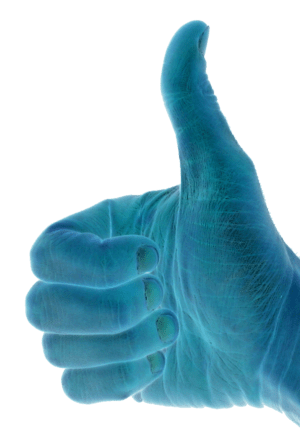 Blue version of Image:Thumbs up.jpg