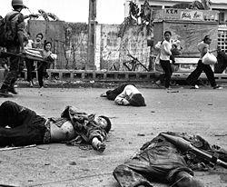 Corpos de Vietnamitas em Hanói, Vietname do Sul, 1968