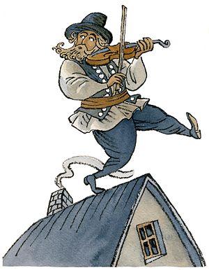 English: Fiddler On The Roof Français : Un Vio...
