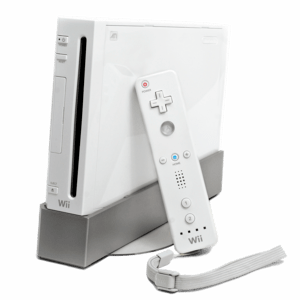 The Wii console by Nintendo. Featured with the...