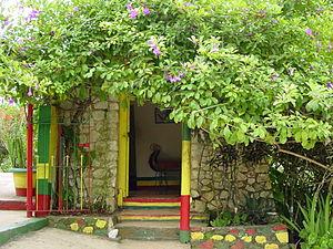 English: Bob Marley house in Nine Mile, Jamaic...