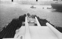 Güverte üzerindeki görevlendirilme töreni (Hamburg)