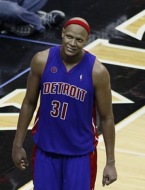 Charlie  Villanueva of the Detroit Pistons. Fro...
