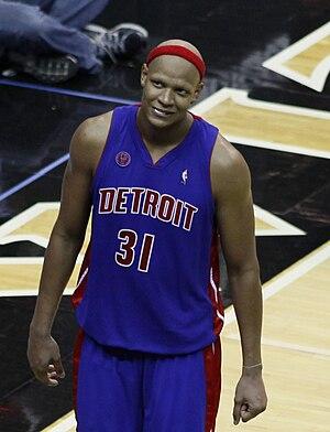 Charlie  Villanueva of the Detroit Pistons. Fro...