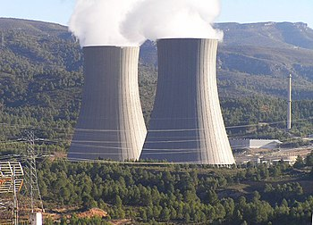 Photo of the Cofrentes (Spain) nuclear power p...