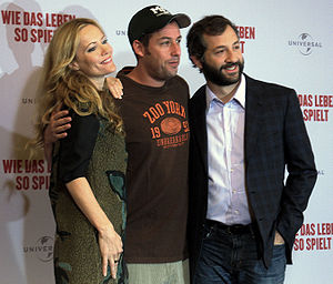 Leslie Mann, Adam Sandler and Judd Apatow in B...