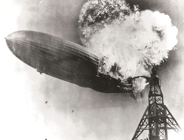 Crashing dirigible