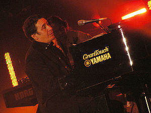 Jools Holland at the Tsunami Relief concert in...