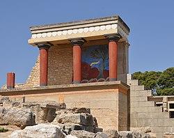 Cung điện Minoan tại Knossos.