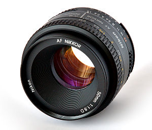 "This image shows a ""Nikon Nikkor AF 50mm/..."
