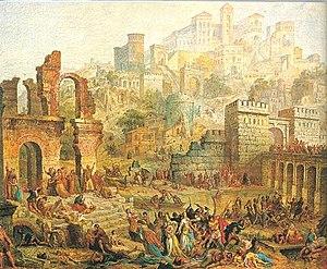 English: Massacre of Jewish people in Metz (Fr...