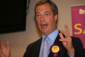 English: Nigel Farage.