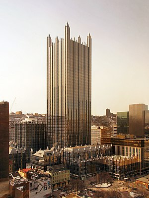 PPG Place in downtown Pittsburgh, Pennsylvania.