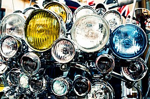300px Scooter headlights - New York Motorcycle Attorney Recommends Modulating Headlights!