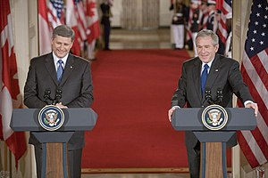 President George W. Bush and Canadian Prime Mi...